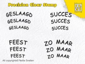 Precision Clear Stamp Dutch texts 4