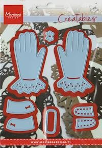Creatables stencil Tiny`s gloves