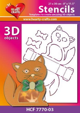 Hearty Crafts DESIGN Stencil cat 21 x 30 cm