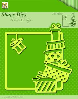 Nellie`s Shape Dies christmas gifts frame