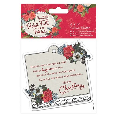 4 x 4 Clear Stamp - Pocket Full of Posies - Sentiment