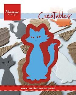 Creatables stencil kitty