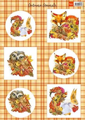 A4 knipvel autumn animals - fox