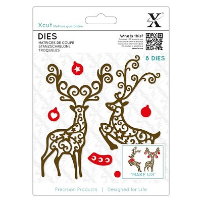 Dies (8pcs) - Filigree Reindeer