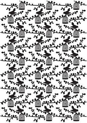 Vintasia Embossing folder Bird pattern