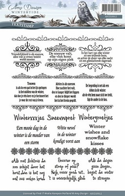 Clearstamp - Amy Design - Wintertide - Tekst