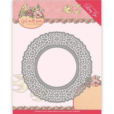 Die - Yvonne Creations - Get Well Soon - Flower Doily