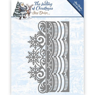 Die - Amy Design - The feeling of Christmas - Ice crystal border