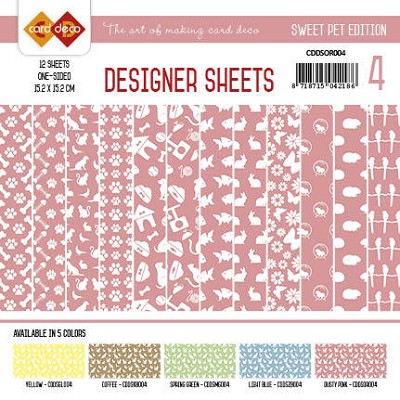 Card Deco - Designer Sheets -Sweet Pet-Oudroze
