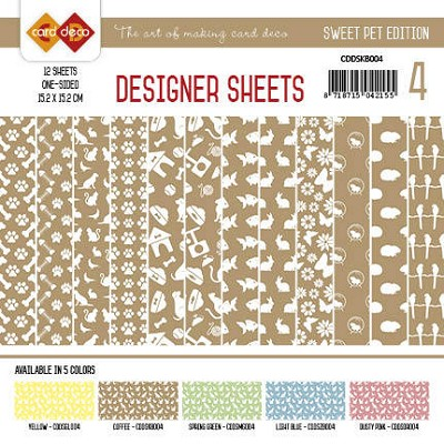 Card Deco - Designer Sheets -Sweet Pet-Koffiebruin
