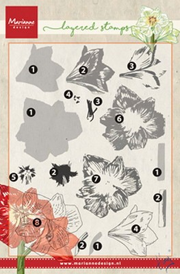 Clear Stamp Tiny`s amaryllis (layering)