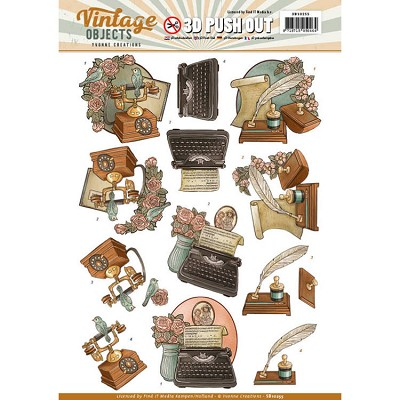 Push Out - Yvonne Creations - Vintage Objects - Vintage Communication