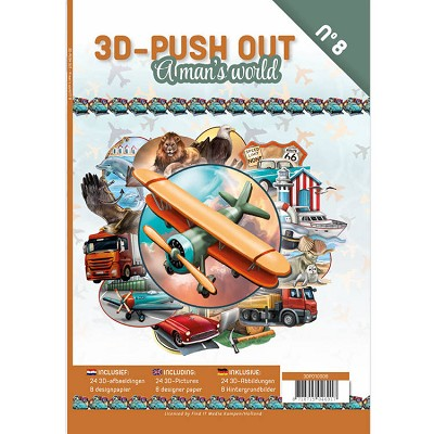 3D Push Out Book - A man`s world