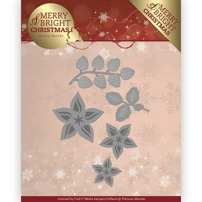 Dies - Precious Marieke - Merry and Bright Christmas - Christmas Florals