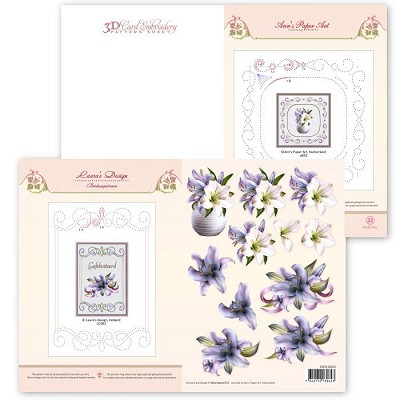 3D Card Embroidery Pattern Sheet #22 with Ann & Laura