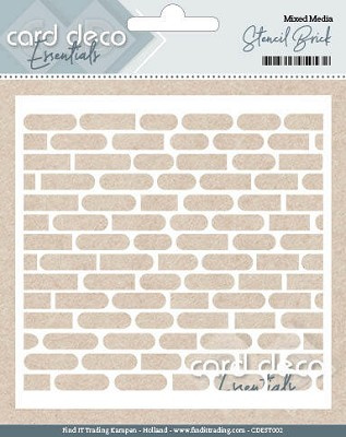 Card Deco Essentials - Stencil Brick