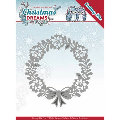 DDies - Yvonne Creations - Christmas Dreams - Poinsettia Wreath