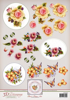 3D Decoupage Spring Flowers