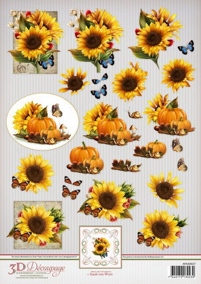 Ann`s Paper Art 3D Decoupage Sheet Sunflowers