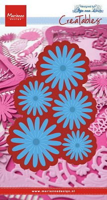 Creatables stencil Anja`s flower set