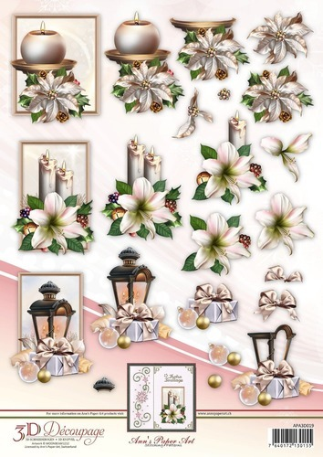 Anns Paper Art 3D Decoupage Christmas Decorations