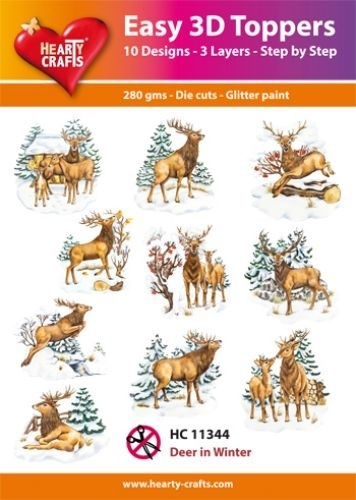 Easy 3D-Toppers Deer in Winter