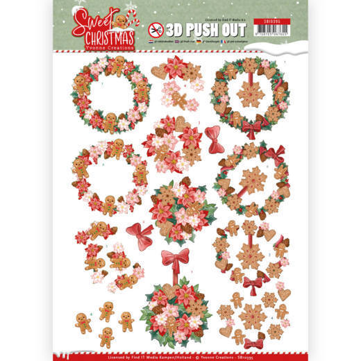 3D Pushout - Yvonne Creations - Sweet Christmas - Sweet Wreaths