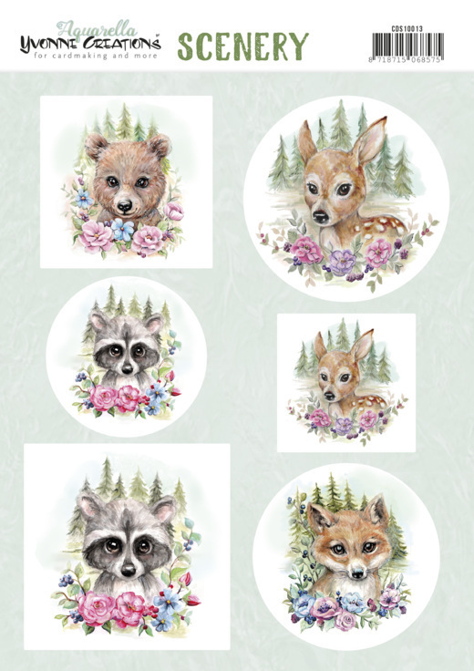 Scenery - Yvonne Creations Aquarella - forest animals