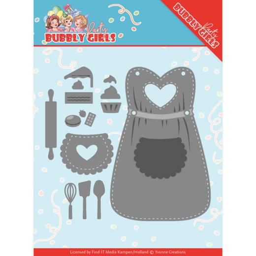 Dies - Yvonne Creations - Bubbly Girls Party Apron