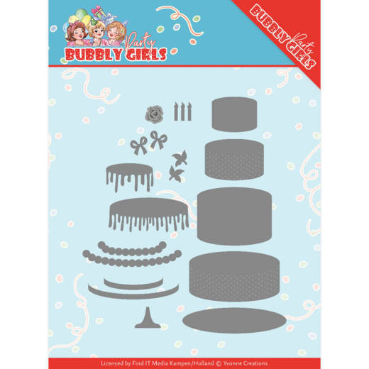 Dies - Yvonne Creations - Bubbly Girls Party - Birthday Cakey Apron