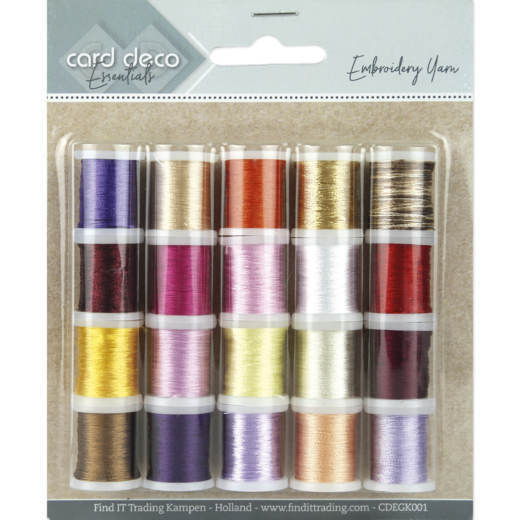 Card Deco Essentials - Embroidery yarn mix 01