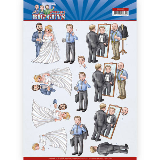 3D Cutting sheet - Yvonne Creations - Big Guys - Workers - Well Dressed