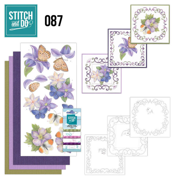 Stitch and Do 87 - Purple Flowers