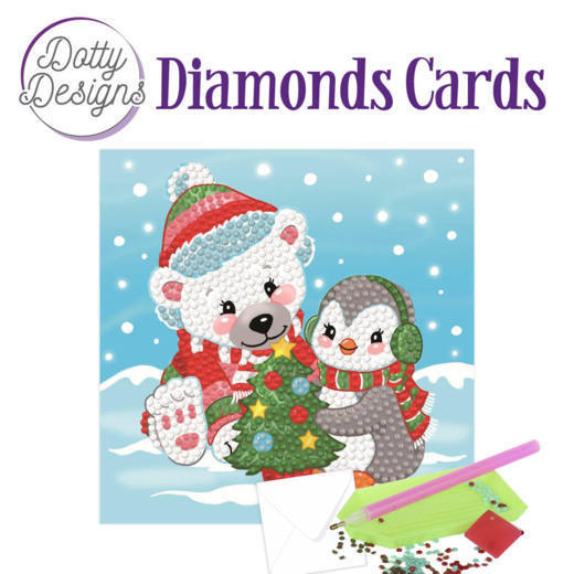 Dotty Designs Diamonds Cards - Christmas Bear