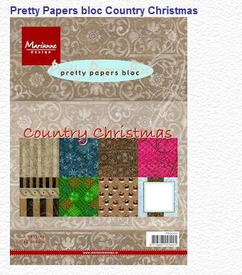 Pretty papers bloc country christmas