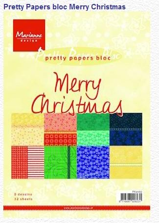 Pretty papers bloc Merry  Christmas