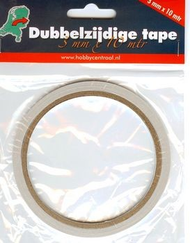 dubbezijdig tape 3 mm 10 mtr