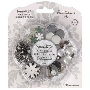 Embellishment set - capsule - monochrome