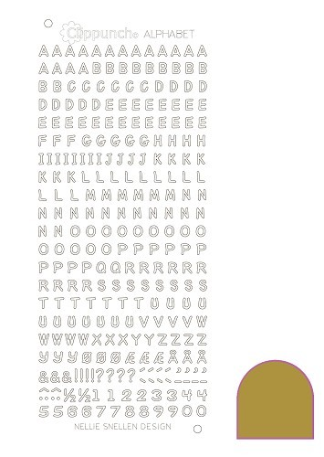 Clippunch Alphabet sticker adhesive gold