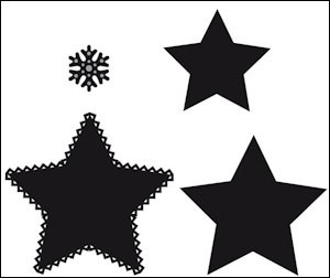 Craftables stencil Star