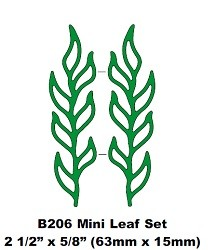 Doily Mal B206 Mini Leaf set