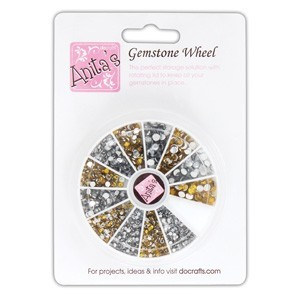 Gold & Silver Gemstone Wheel