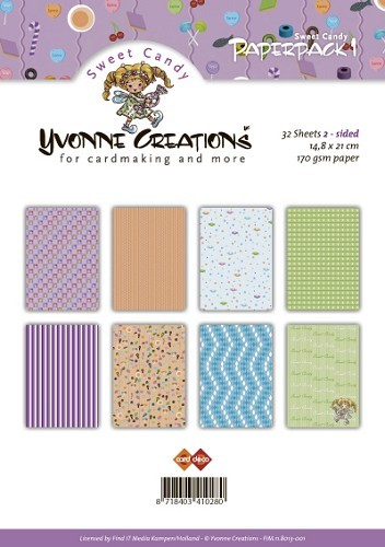 Yvonne Creations - Sweet Candy - Paperpack 1