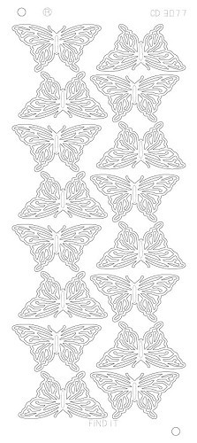 Butterflies Large Platinum zilver