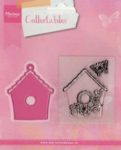 Collectables set Birdhouse flowers