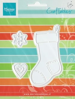 Craftables stencil Tiny`s christmas socking