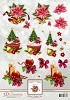 3D Decoupage Sheets Christmas Cupcake met borduurpatroon download