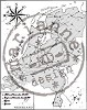 Clear stamp map of Holland
