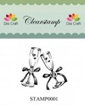 Dixi Clear Stamp wedding glasses