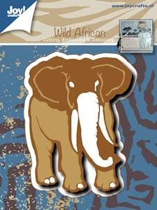 Joy! stencil olifant Cutting & Embossing & Debossing